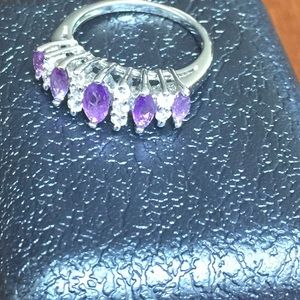 Jewelry - Purple and white silver ring
